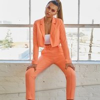 women two pieces clothing sets 2019 fashion girl fashion blazer ladies sexy coat and pants sets