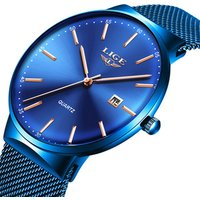 Ultra Thin Watch Waterproof Quartz Minimalist  Wrist Watches Unisex Business Dress Casual Watch Men