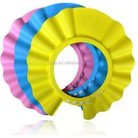 'Dhl Free Shipping Baby Head Protector Great Quality Eva Baby Shower Caps Printing Plastic Baby Shampoo Bath Caps
