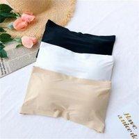 new stock wholesale free size nylon back closure padded chest wrap strapless bandeau bra 220744