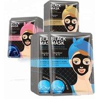 'Sheet Mask Anti Ageing Whitening Moisturizing Organic Snail Rose Extract Ha Charcoal Black Face Mask Skin Care Facial Mask