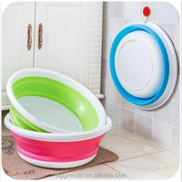 Factory direct wholesale lovely cartoon baby foldable wash basin