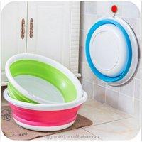 Factory direct wholesale lovely cartoon baby foldable wash basin