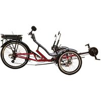 ZZMERCK High Quality Holiday Leisure Adult Three Wheel Bicycle 500W Electric Recumbent Trike with Shipping Cost