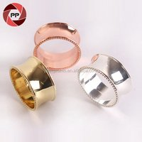 Wedding table metal round rose gold napkin ring