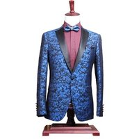 Mens Slim Fit Fashion Blazer One Piece Leisure Suit Blue Man Blazer Homme