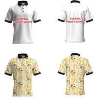 Drop Shipping 3D Printing Custom Logo T Shirt Polo Men Clothing with Small MOQ