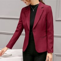 YSMARKET 6 Color Spring Autumn Suit Jacket Female Slim Temperament  Sweet Ladies Blazer Single Button  Long sleeve Coat Femme