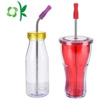 Food Grade FDA Silicone Tip Straw Soft Rubber Tumbler Tip Cover for Drinks/Bar Accessories
