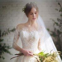 2018 European Fashion Lace wedding dress Elegant Long Sleeve Lace Wedding Bridal Gown