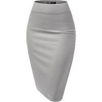 hot Amazon Women Midi Stretchy Pencil wrap skirt