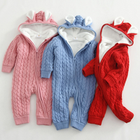 Top quality romper clothing baby girl jumpsuit with Cardigan soft cotton baby romper