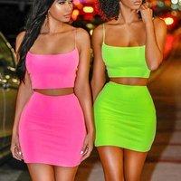 FS1071B ropa mujer evening club two piece set women clothing