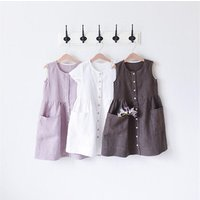 Ins Hot Selling European Style Summer Pretty Backless Toddler Baby Girl Kids Dress