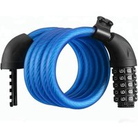 Wholesale Cycling 1500mm Long Safety 5 Digital Code Combination Bicycle Lock Stainless Steel Cable Bike Chain Lock