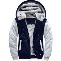2018 brand Male winter Design of Hoodie fashion Slim Brushed hoody hoodie with zipper zip warm man Long sleeve coat