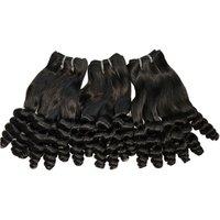 8a double drawn virgin human hair weaves bouncy wave nigerian aunty funmi hair extensions for short hair 3pcs DHL free shipping