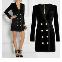 Wholesale Winter Black Long Sleeve Short Celebrity Evening Homecoming Sexy Party  Dress