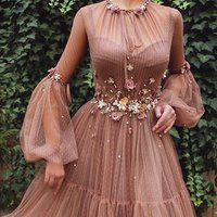 2019  Formal WomenS Long Sleeve Evening Dress Ladies Party Dresses