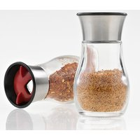 'Rotatable Screw Plastic Lid 4oz Clear Glass Salt And Pepper Bottle Shaker Spice Containers