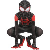 2019 Kids Spiderman Costume New Spider-Man Spider-Verse Miles Morales Cosplay Costume Zentai Suit Halloween Costume For Kids