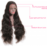 Huashuo Free Shipping Brazilian Virgin Hair 360 Lace Frontal Wig Body Wave Glueless Human Hair Lace Front Wig With Frange