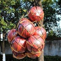 Basketball Storage Bag Football Soccer Sports Ball Mesh Net Nylon Bag Large Size Ball Carry Bag