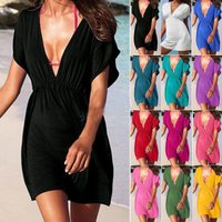 2017 Hot New Sexy Swimwear Summer Dresses Women LADIES FASHION KAFTAN Sexy BIKINI Cover Up Beach Dress S/M/L/XL