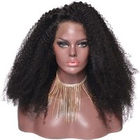Unprocessed hair extension afro kinky curly wig for middle age women