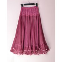 2017 New fashion long pleated maxi skirt