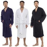 100% Cotton Waffle Weave Robe Kimono Spa Bathrobe