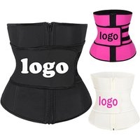 Wholesale Slimming Waist Trainer Corset Black Private Label Latex Waist Trainer