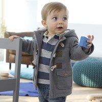 Baby Jacket Kids Outerwear warm fleece Baby Boys Hooded Winter Coat