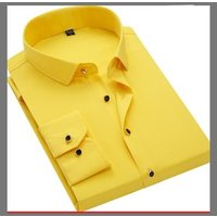 New Mens Solid Color Shirt Formal Business Dress Shirts