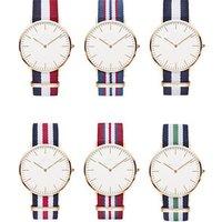 Free shipping hot selling nylon strap with logo custom business wrist watch MW23