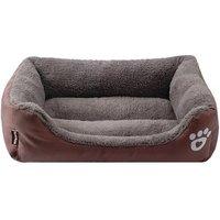 Wholesale Hot selling pet dog warm plush luxury pet sofa bed waterproof Rectangular memory foam dog bed