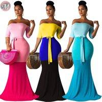 9060306 queenmoen hot sale 3 colors off shoulder adult woman long party dress