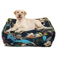 Wholesale Vintage Style Washable Soft Rectangular Printing Dog Cushion Pet Sofa Orthopedic Luxury Dog Bed for dog