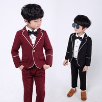 Suit Boys blazers kids boy for weddings prom suits formal party dress kids tuxedo children clothing set