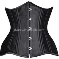 2018 New Double Steel Boned Corset Heavy Duty Slimming Shaper Fat Womens Sexy Vintage Underbust Corsets And Bustiers