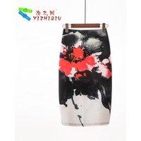 YIZHIQIU Oem Fitted Pencil Skirt High Waist Skirts