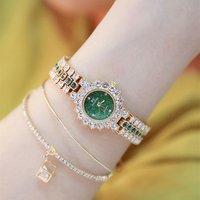 2019 Elegant Women Small Dial Watch High Quality Female Full Diamond Crystal Watches Lady Dress Quartz Wristwatch (KWT82101)