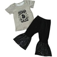 childrens boutique clothes 2019 fashion baby girls boutique clothing Sequin Bell pants