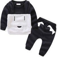 Mudkingdom 2019 autumn and winter new wool long sleeve boy suit brand childrens clothing wholesale puppy design set