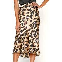 Lady High Waist Boho Skirt Midi Pencil Skirt Wrap Long Satin Skirt