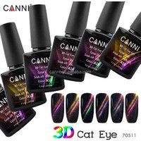 70511a CANNI 3D Cat Eye Gel Varnish OEM 7.3ml 1kg 6 Magic Colors DIY Tips Super Quality Magnetic Cat Eye Gel Nail Polish
