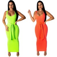 FM-S3580 Spaghetti Strap Backless Sexy Long Dress Off Shoulder Strapless Summer Long Dresses Black Bodycon Party Women
