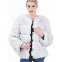 2020 wholesale hot sell Women winter coat white Thick Long Pile Fake Fur Short Style Faux Fur Coat