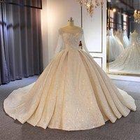 Amanda Novias Real Photos vestidos de novia 2019 Sparkling Beading Lace Wedding Dress Wedding Gown
