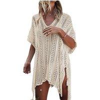 Womens Bathing Suit Cover Up Beach Bikini Swimsuit Swimwear Crochet Dress